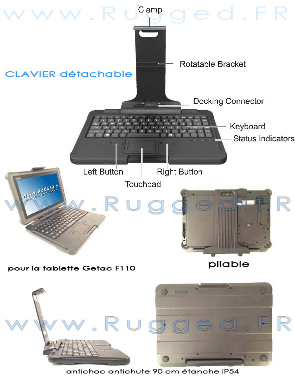 Tablette tactile / Clavier detachable